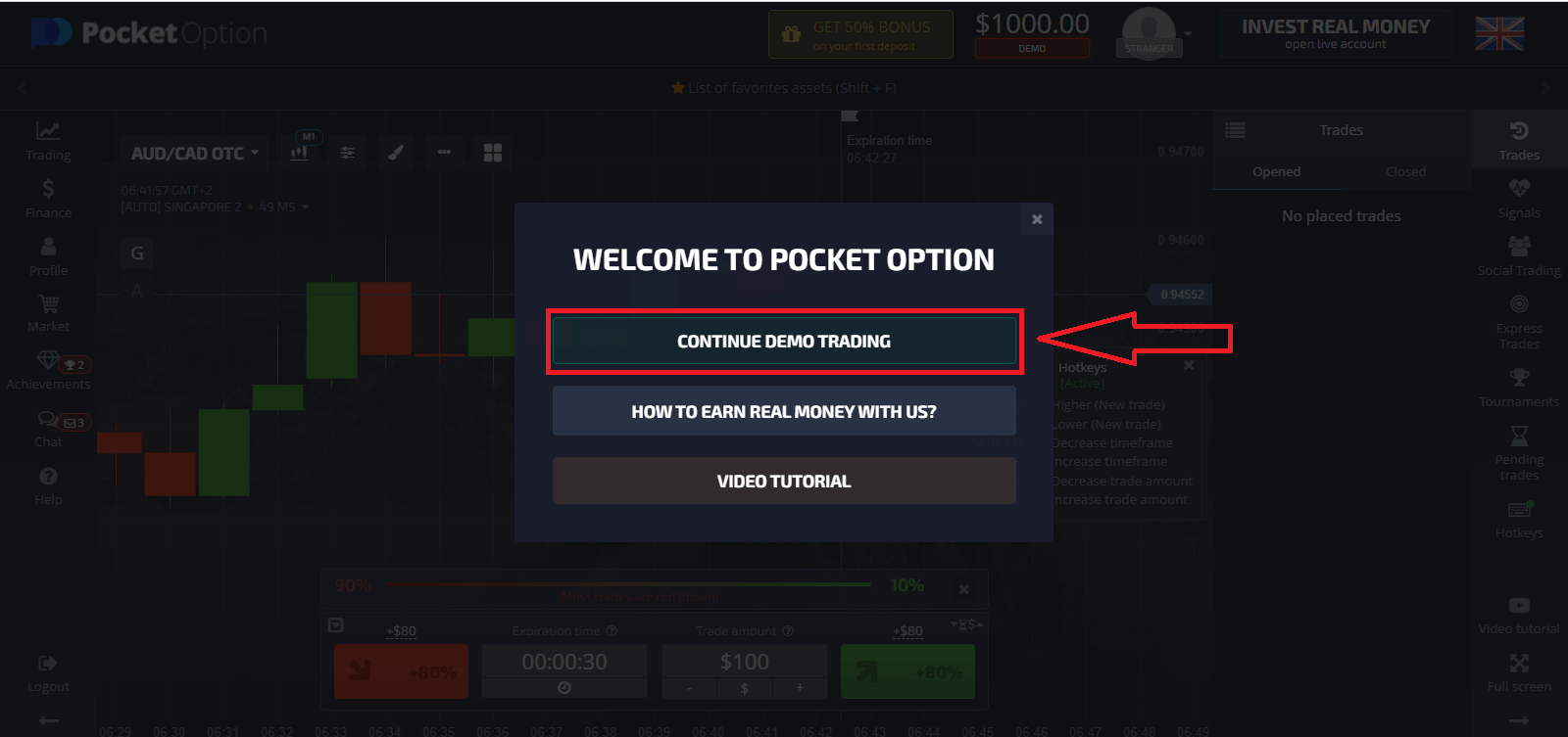 How to Open a Demo Account on Pocket Option
